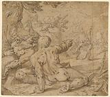 River Gods Watching Apollo Pursuing Daphne (recto)
