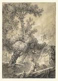 Shepherd and Shepherdess in a Bucolic Landscape