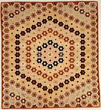 Quilt (or decorative throw). Hexagon or Mosaic pattern.