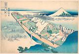 Ushibori in Hitachi Province (Jōshū Ushibori), from the series Thirty-six Views of Mount Fuji (Fugaku sanjūrokkei)