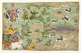 Shah Jahan Hunting Blackbuck with Trained Cheetahs