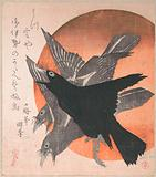Three Crows against the Rising Sun, from the series Three Sheets