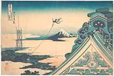 Honganji at Asakusa in Edo (Tōto Asakusa Honganji), from the series Thirty-six Views of Mount Fuji (Fugaku sanjūrokkei)