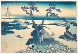 Lake Suwa in Shinano Province (Shinshū Suwako), from the series Thirty-six Views of Mount Fuji (Fugaku sanjūrokkei)