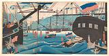 """Yokohama Trade: Westerners Loading Cargo"""
