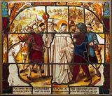 Life of Saint Bernard of Clairvaux: Saint Bernard mediates a dispute between Bishop Stephan von Bar and Duke Matthew …