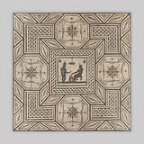 Mosaic floor with Egyptianizing scene