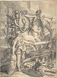 Allegorical Homage to the Duc du Maine, Grand Maître de l'Artillerie