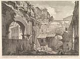 Veduta interna dell'Atrio del Portico di Ottavia (Internal View of the Atrium of the Portico of Octavia), in: 'Vedute …