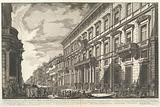 View along the Via del Corso of the Palazzo dell'Accademia, established by Louis XIV, King of France for French …
