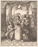 """Frontispiece from Thomas Sprat's """"The History of the Royal Society of London"""""""