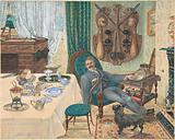 A Bachelor in His Study (The Sportsman's Breakfast)