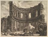 Avanzi del Tempio detto di Apollo nella Villa Adriana vicino a Tivoli (Hadrian's Villa. Remains of the Smaller Palace …)