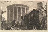 View of the Temple of the Temple of the Sibyl at Tivoli, from Vedute di Roma (Roman Views)