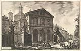 View of the Basilica of San Sebastiano fuori delle mura [St Sebastian outside the Walls] on the Appian Way, from …