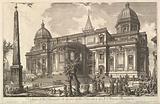 View of the rear entrance of the Basilica of S Maria Maggiore, from Veduta di Roma (Roman Views)