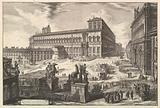 View of the Piazza di monte Cavallo, from Vedute di Roma (Roman Views)