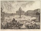 View of St Peter's Basilica and Piazza in the Vatican, from Vedute di Roma (Roman Views)