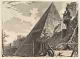 The Pyramid of Gaius Cestius, from Vedute di Roma (Roman Views)
