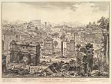 The Forum Romanum, or Campo Vaccino, from the Capitol, with the Arch of Septimius in the foreground left, Temple of …
