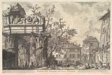 The Temple of Vespian (Veduta del Tempio di giove Tonante)