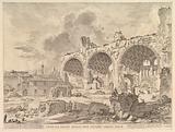The Basilica of Constantine (Veduta degli avanzi della Casa aurea di Nerone, detti volgarmente il Tempio della Pace)