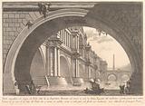 Magnificent bridge with loggias, and arches erected by a Roman Emperor … (Ponte magnfiico con Logge, ed Archi erretto …)