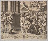 The people rendering divine honors to Psyche, from 'The Fable of Psyche'