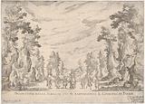 View of the scene in which is represented the Judgment of Paris (Prospettiva della scena in cui si rappresentò il …)