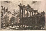 Another view of the remains of the Pronaos of the Temple of Concord [The Temple of Saturn with Arch of Septimius …]