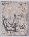 Ste Potentienne, vierge (St Pudentiana, Virgin), May 19th, from Les Images De Tous Les Saincts et Saintes de L'Année …