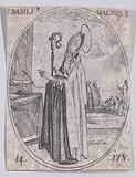S Basile le Grand, évêque (St Basil the Great, Bishop), June 14th, from Les Images De Tous Les Saincts et Saintes de …