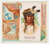 Red Thunder, Blackfeet Sioux, from the American Indian Chiefs series for Allen & Ginter Cigarettes