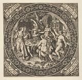 Scene with a Feast of Love in a Circle at Center