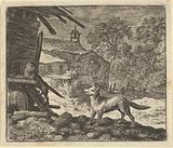 The Cat Climbs a Barn from Hendrick van Alcmar's Renard The Fox