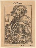 Bust of Saint Peter, from the Large Series of Wittenberg Reliquaries. Verso: Martin Luther.