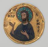 Medallion with Saint John the Baptist from an Icon Frame