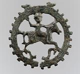 Harness Pendant, with Mounted Horseman