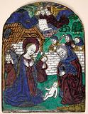 Plaque with Adoration of the Shephards