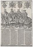 Procession of the Counts and Countess of Holland on Horseback: Mary of Burgundy, Maximilian I, Philip the Fair, and …
