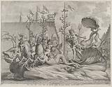 Philip of Spain as Neptune, riding in a chariot drawn by two sea horses
