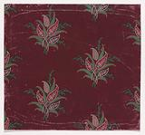 Textile Design with Bundles of Paisley Motifs, Stylized Leaves and Stylized Branches with Leaves