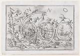 'Anno 1690', with numerous warring figures clambering on and hanging from the numbers, allusions to the Four Elements …