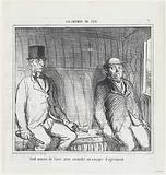 The only way to be safe on a pleasure trip, from 'On the train,' published in Le Charivari, September 3, 1864