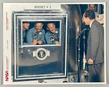 President Richard M Nixon Welcomes the Apollo 11 Astronauts Aboard Recovery Ship USS Hornet