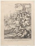 Miseries of London: Entering upon any of the bridges of London or any of the passages leading to the Thames being …