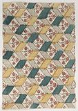 Sheet with an overall floral and geometric pattern