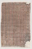 Sheet with overall pattern of squares and crosses