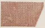 Sheet with overall geometric pattern with squares and stars