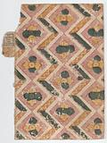 Book cover with zigzag and floral pattern